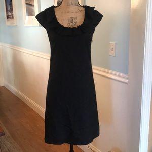 J.Crew Size 0 Blk Sweet Dress w a cute neck ruffle